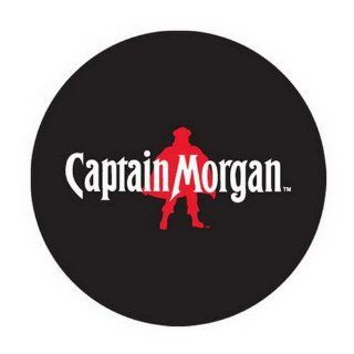 48 Round Captain Morgan Rum Logo Area Rug Licensed: Home