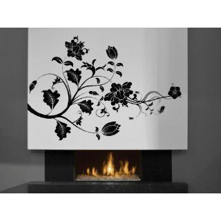 Vinyl Wall Decal Swirl Flower Art Design Sticker Home