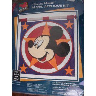 Disneys Mickey Mouse Fabric Applique Kit Arts, Crafts