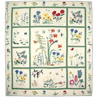 Forest Flowers, Queen Quilt 90 X 100 In.