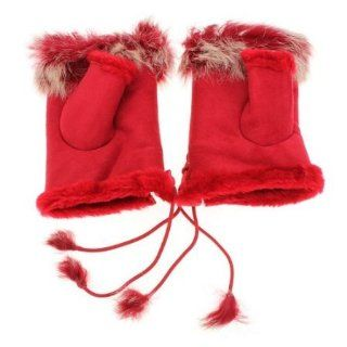 Fashion Women Girls Ladies Rabbit Fur Hand Wrist Warmer