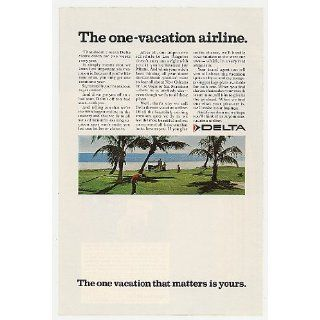 1968 Delta Airlines The One Vacation Airline Golfing Print