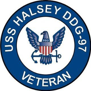 US Navy USS Halsey DDG 97 Ship Veteran Decal Sticker 3.8