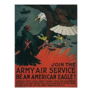 Vintage Military Air Service Poster Art