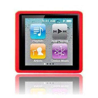Modern Tech Red Soft Gel Case for Apple iPod Nano 4 6G 6th