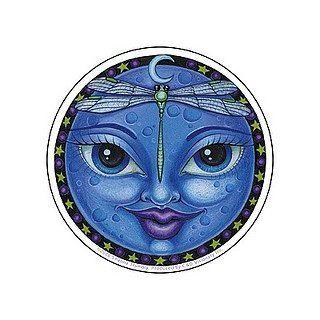 Dragonfly Lady Moon Fantasy Art Sticker by Shanna Trumbley