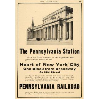 1911 Ad Pennsylvania Railroad Station Structure NY