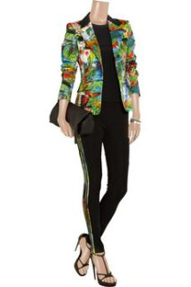 Altuzarra Finch tropical print cotton blend blazer   69% Off