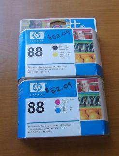 Brand New Genuine HP Officejet Pro K550 Printhead Set C9381A C9382A