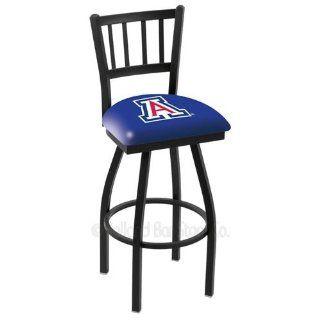 Arizona Wildcats Logo Black Wrinkle Swivel Bar Stool with