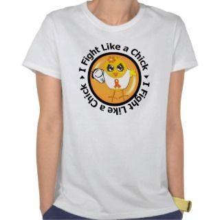 Fight Like a Chick (Orange Ribbon) Tee Shirt
