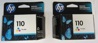 HP Combo Pack 110 Tri Coloroffice Jet Ink Cartridges CB304AN Two
