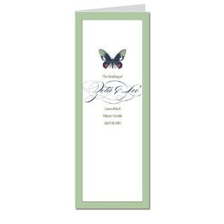 140 Wedding Programs   Butterfly Moss Spice Dream Office