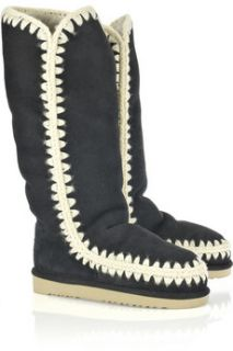 Mou Eskimo suede shearling lined boots