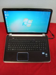 HP Pavilion DV7 17 3 Laptop Computer Intel Core i7 750GB HDD 8GB RAM