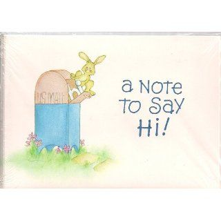 A Note To Say Hi Blank Note Cards & Envelopes Health