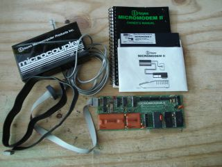 Original Apple II Hayes Micromodem II Manual Disk Interface Card