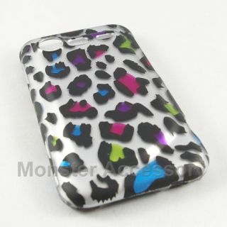 Rainbow Leopard Hard Case Cover HTC Droid Incredible S