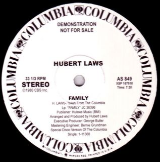 Hubert Laws Family 12 inch WLP