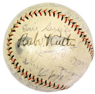 Babe Ruth Signed 1931 San Francisco Seals w 27 Team Baseball Ball JSA