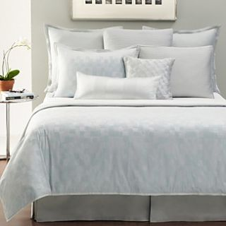 Hudson Park Mirrors Queen Quilted Coverlet Aquamarine