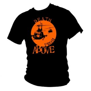 Apocalypse Now Huey Helicopter Cult War Film T Shirt