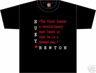 Huey Newton Black Panther Revolutionary Retro T Shirt