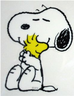 New Peanuts Snoopy Woodstock Sticker Made in Japan Big Hug