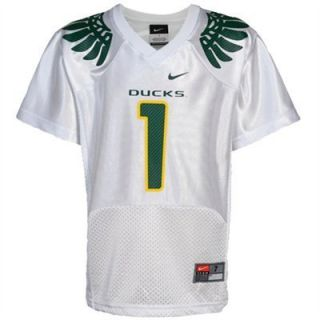 Wings NIKE NCAA White FOOTBALL JERSEY 1 Youth 5 Thomas Huff Barner