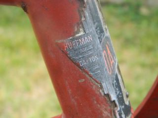 Vintage Huffman Bicycle Dayton Ohio Balloon Tire Cruiser Bike Rat Rod