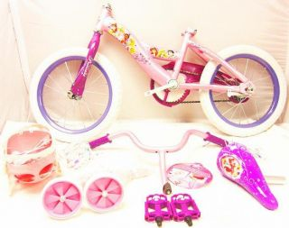 Huffy Disney Princess Girls 16 Bicycle Bike Shimmer Pink Glitter