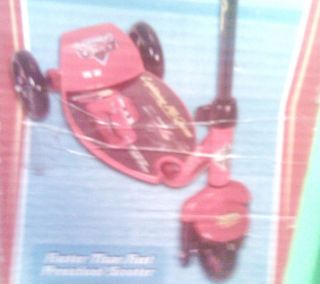 Huffy Pixar Cars Lightening McQueen 3 Wheeled Scooter Easy Ride Deck