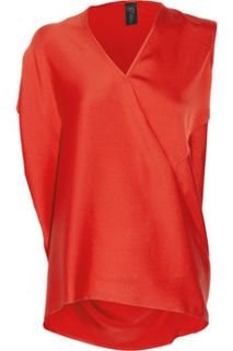 Zero+MariaCornejo Nya asymmetric stretch silk top