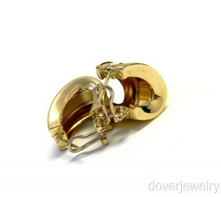 Estate 14k Gold Huggie Large Earrings