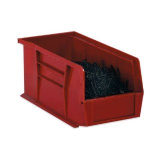 BOXBINP1111R   11 x 107/8 x 5 Red Plastic Stack Hang Bin
