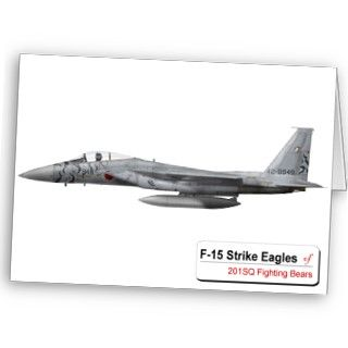 2010 戦競 F 15 201 Hikotai JASDF Greeting Cards