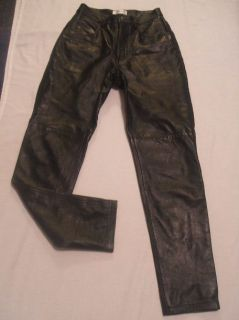 Hugo Buscati Collection Black Leather Pants Sz 4 Soft