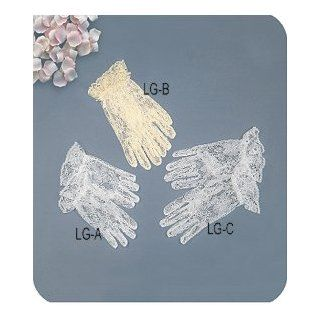 Dress Glove Lace Children Model #[LG B] 8~12 yrs, White