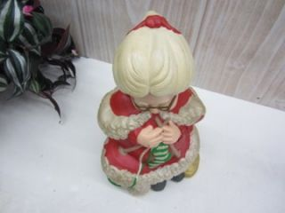 Ceramic Atlantic Mold Mrs Santa Claus Sitting and Knitting