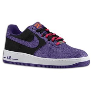 Nike Air Force 1 Low   Mens   Basketball   Shoes   Black/Court Purple