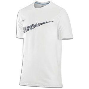 Nike Bball Swoosh T Shirt   Mens   Basketball   Clothing   White/Blue