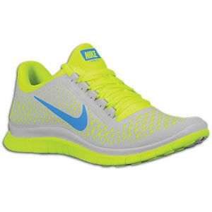 Nike Free Run 3.0 V4   Mens   Running   Shoes   Pure Platinum/Blue