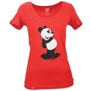 LRG Pucky Panda Scoop Neck T Shirt   Womens   Skate   Clothing   Red