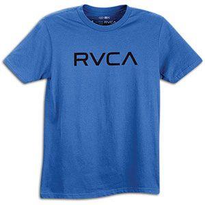 RVCA Big RVCA T Shirt   Mens   Skate   Clothing   Royal/Black