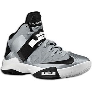 Nike Zoom Soldier VI   Mens   Basketball   Shoes   Wolf Grey/White