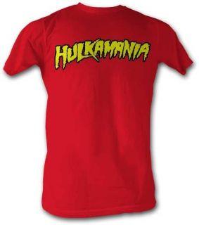 New Licensed Hulk Hogan Hulkamania Red Lightweight Adult Tee T Shirt s