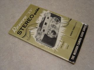Vintage 1953 Revere 33 Stereo Camera Instruction Manual