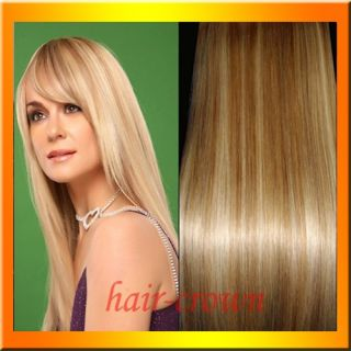 Remy Human Hair Extensions Clip in Full Head 16 18 20 22 24 in