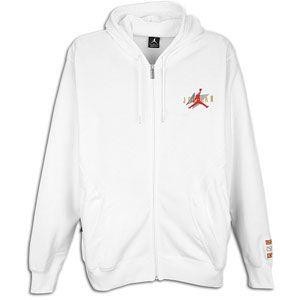 Jordan Retro 6 Full Zip Hoodie   Mens   Basketball   Clothing   White