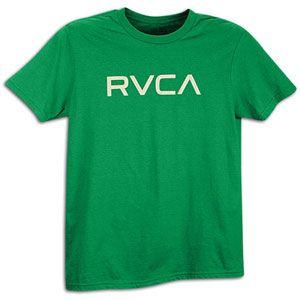RVCA Big RVCA T Shirt   Mens   Skate   Clothing   Kelly Green/Grey